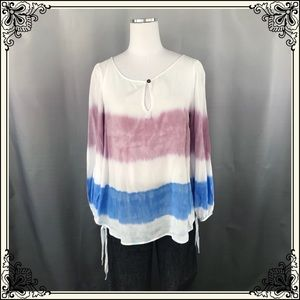 Anthro Holding Horses Stripe Rayon Blouse #2213